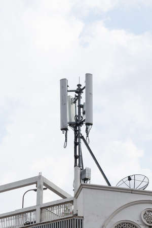 frequencies: Transmission towers phone. Wireless mobile telecommunication systems. There are a wide range of frequencies.