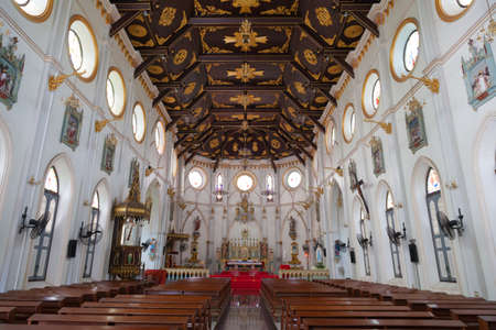 spiritual journey: Within the Church of Christ. The church province There are benches and Western decor. Editorial