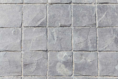 harmonize: Concrete oval, square, octagonal small. A small square to harmonize the background. Stock Photo
