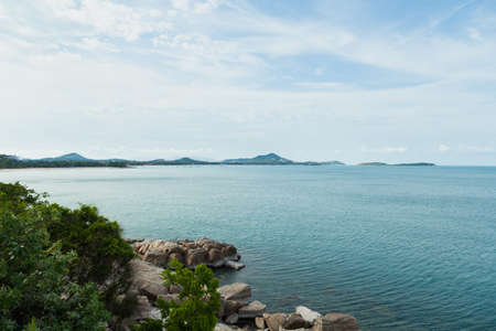 abundant: Coast of Koh Samui Island in the Gulf of Thailand There are mountains and forests are abundant.