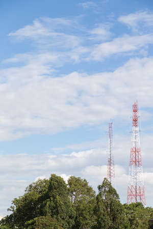 farther: Radio and telecommunications poles Antenna with high signal to go farther in the communications space.