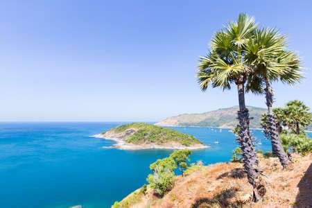 balmy: Scenic beach. Seaside air and balmy daytime heat. Phuket, Thailand
