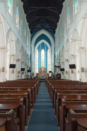 andrew: SINGAPORE - April 10, 2016 : Saint Andrew Cathedral is an Anglican cathedral in Singapore.