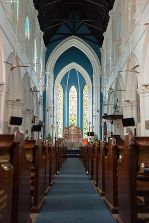 anglican: SINGAPORE - April 10, 2016 : Saint Andrew Cathedral is an Anglican cathedral in Singapore.