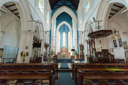 SINGAPORE - April 10, 2016 : Saint Andrew Cathedral is an Anglican cathedral in Singapore.