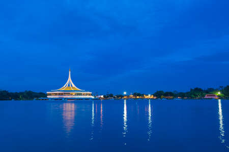 Suan Luang Rama IX Park in the evening.