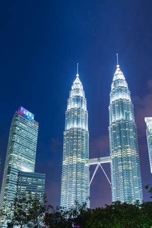 Petronas Towers landmark in malaysia. Editorial