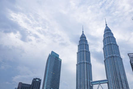 KUALA LUMPUR, MALAYSIA - JANUARY 15: Petronas Towers landmark in malaysia.