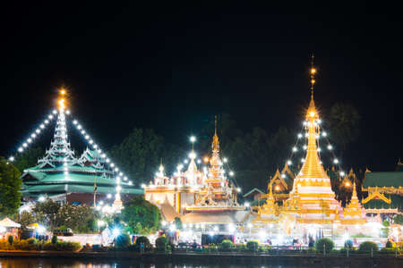 Wat Jong Klang in Maehongson. Landmark of north Thailand.