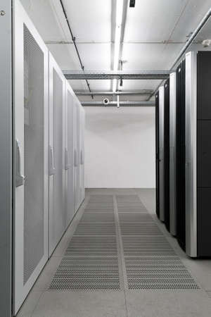 Server IT room for secure data storage Stock Photo