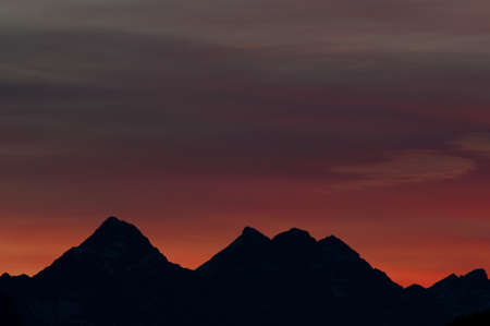 Afterglow in the Lechtaler alps, mountains photo