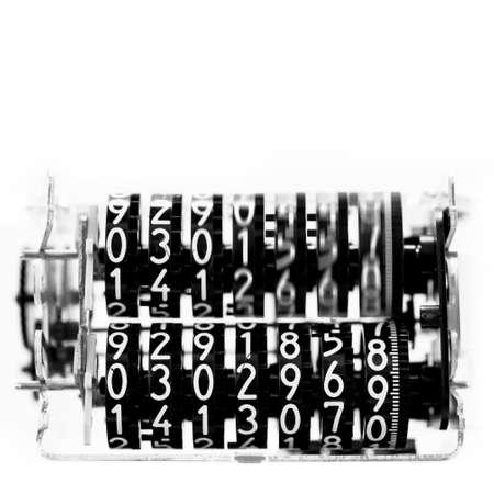 elektrische meter met de beweging van de cijfers Stockfoto