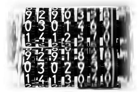 digits counter in motion