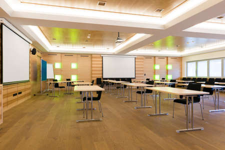 modern wooden teaching lesson class or conference room Фото со стока - 27146999