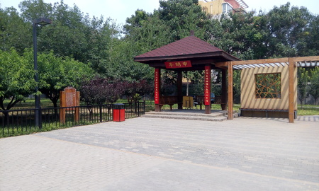 city park pavilion: Beijing Park Editorial