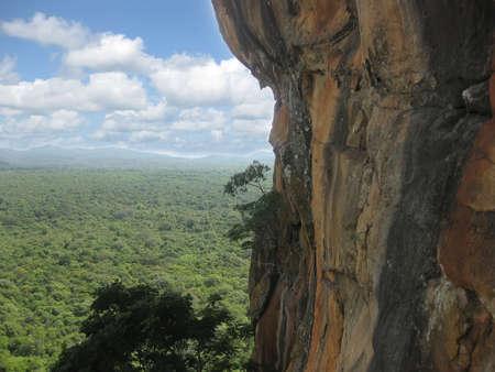 formations: De hoge rots in Sri LANKS jungle