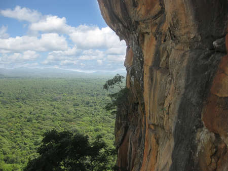 rock formations: The high rock in Sri Lanks jungle Stock Photo