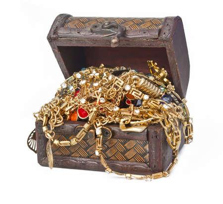 treasure box: Treasure isolated on white background