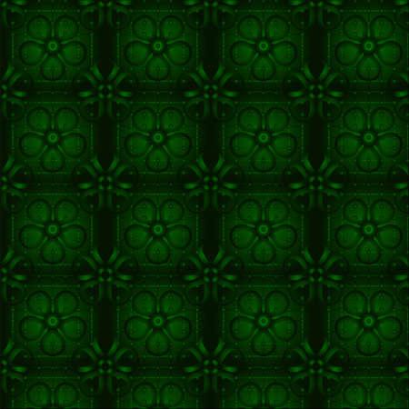 green wallpaper: Floral green wallpaper. Seamless. Vector illustration