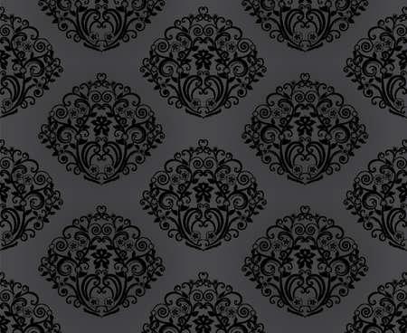 metall: Retro wallpaper. Seamless. Vector illustration Illustration