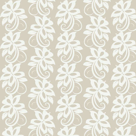 victorian textile: Floral wallpaper. Seamless. Vector illustration Illustration