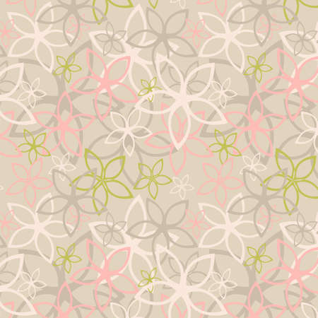 Floral abstract background, seamless. Vector illustration Vector