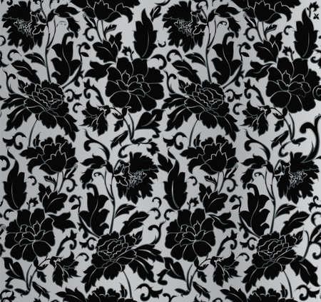 blumen abstrakt: Floral abstrakte Hintergrund, nahtlos. Vektor-Illustration