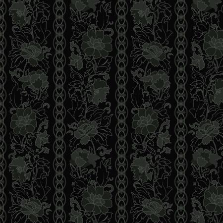 blumen abstrakt: Floral abstract background, seamless. Illustration