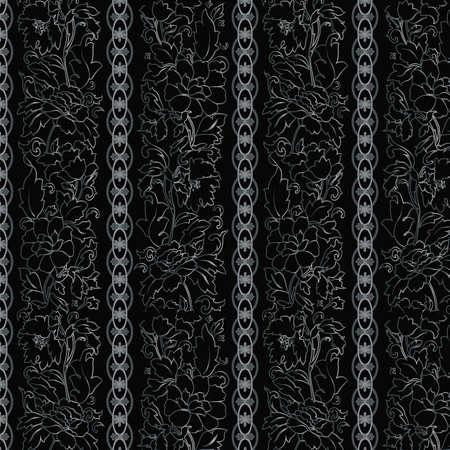 blumen abstrakt: Floral abstrakten Hintergrund, nahtlos. Illustration