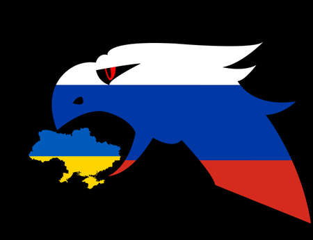 Russian aggression in Ukraine, concept events in 2014. Vector illustration Vector