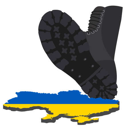 annexation: Russian aggression in Ukraine, concept events in 2014. Vector illustration