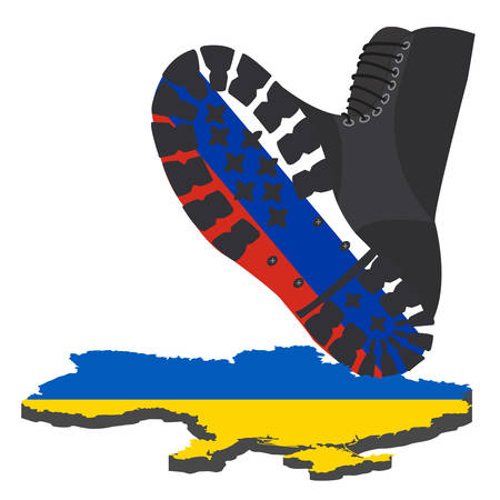 Russian aggression in Ukraine, concept events in 2014. Vector illustration Vector