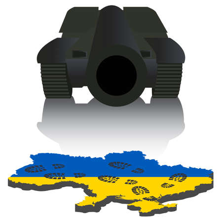 Russian aggression in Ukraine, concept events in 2014  Vector illustration Illustration