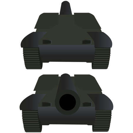 bombing: Tank front and back view  Vector illustration Illustration