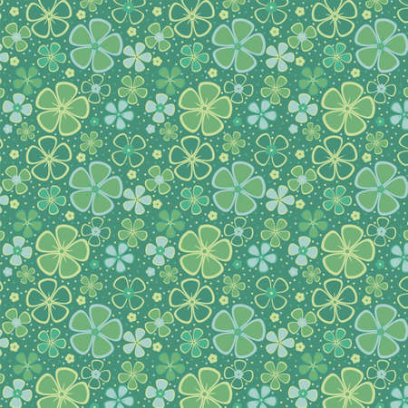 ultramarine: Floral abstract background, seamless  Vector illustration Illustration