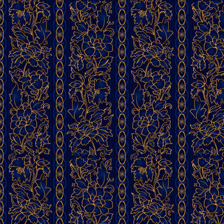 blumen abstrakt: Floral abstrakten Hintergrund; nahtlos. Vektor-Illustration Illustration