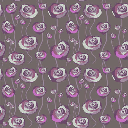 bordo: Floral rose background, seamless. Vector illustration