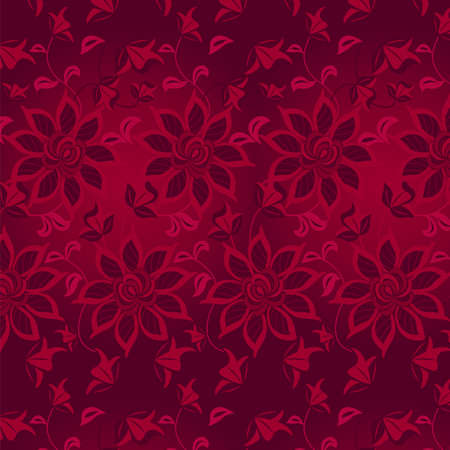 bordo: Floral abstract background, seamless. Vector illustration