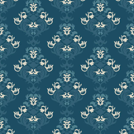 Floral vintage background, pattern. Vector illustration Vector