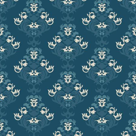 Floral vintage background, pattern. Vector illustration Vector