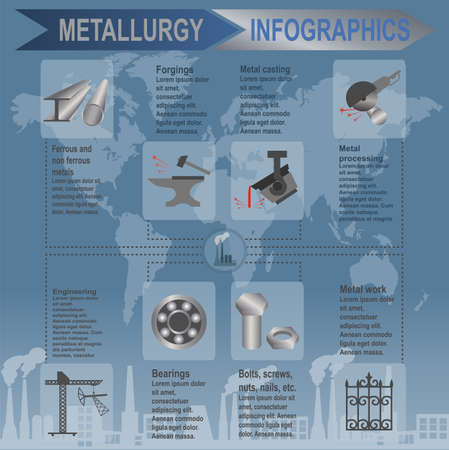 Metallurgical industry info graphics Stock Vector - 27872477