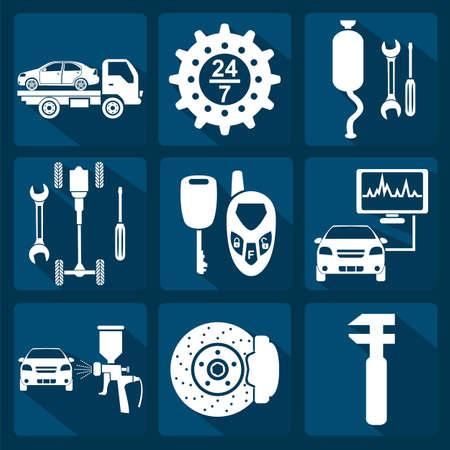 Set von Auto-Service icons Standard-Bild - 28414929