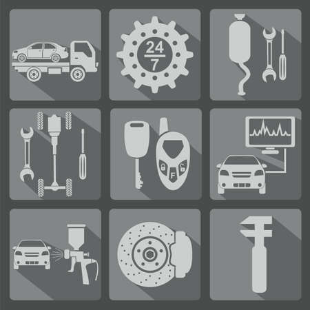 Set of car service icons illustration Stock Vector - 28414948