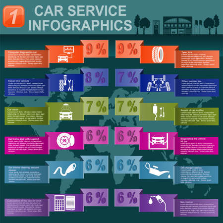 Car service, repair Infographics illustration Stock Vector - 28415010