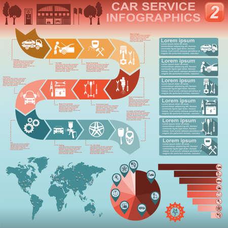 Car service, repair Infographics illustration Stock Vector - 28415018