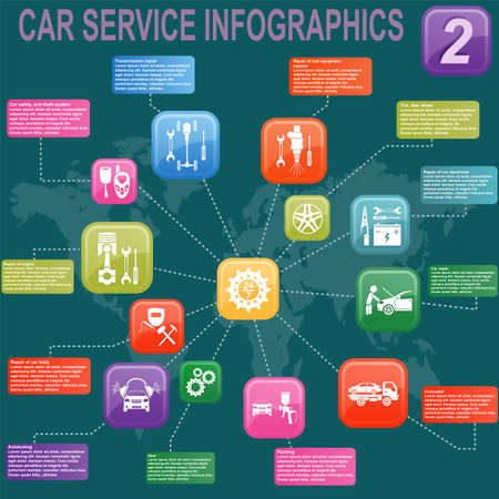Car service, repair Infographics illustration Stock Vector - 28414890