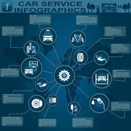 Car service, repair Infographics illustration Stock Vector - 28414896