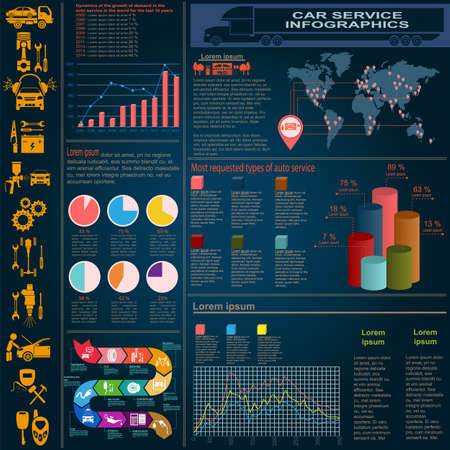 metallurgical: Metallurgical industry info graphics illustration
