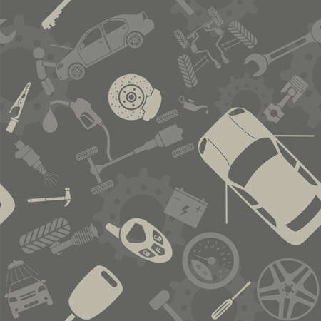 service car: Car service and some types of transportation background.