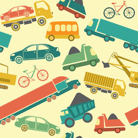 Car service and some types of transportation background  Vector illustration  Vector
